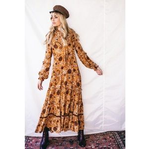 Spell & The Gypsy Etienne Maxi Dress Sienna S NWT
